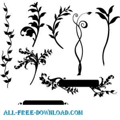 Free vector Vector floral  Floral Vector Pack 1