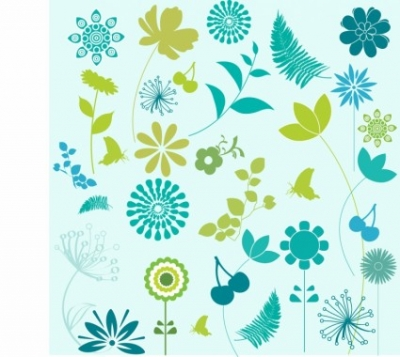 Free vector Vector plant  Flower and Leaf Design Elements