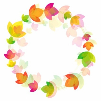 Free vector Vector flower  Flower circle background