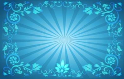 Free vector Vector background  Flower Frame Sunburst Background
