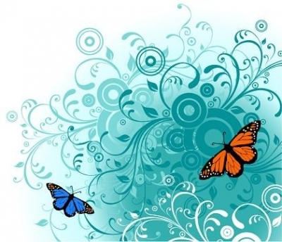 Free vector Vector flower  Flowers and Butterfly Free Vector Graphics