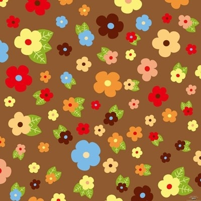 Free vector Vector flower  flowers and foliage background cartoon 1 vector