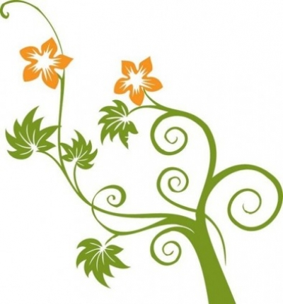 Free vector Vector flower  Flowers and Swirls Vector Graphic