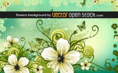 Free vector Vector background  Flowers Background
