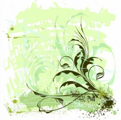 Free vector Vector flower  Flowers Ornament Grunge Background Vector