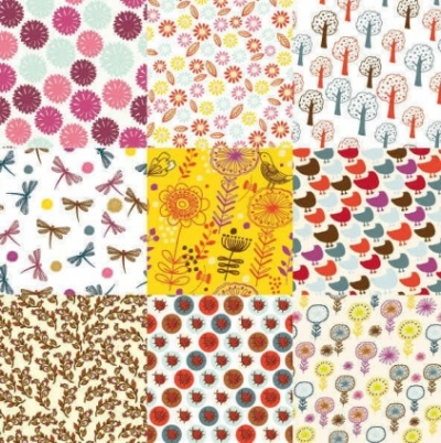 Free vector Vector background  flowers patterns background pack