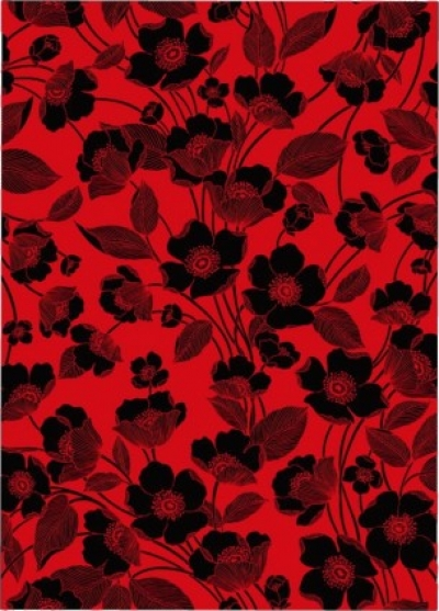 Free vector Vector flower  flowers red and black background vector lines