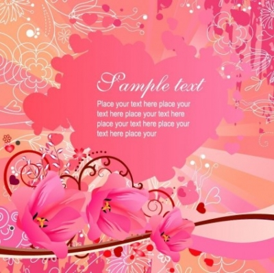 Free vector Vector background  Flowers Vector Background