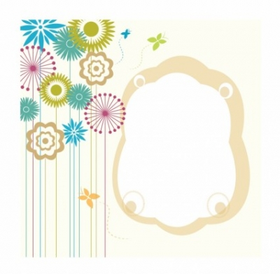 Free vector Vector flower  Flowers with frame