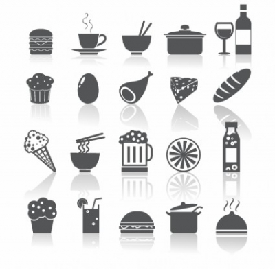 Free vector Vector icon  Food and Drinks Icons