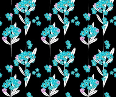 Free vector Vector flower  Forget me not pattern