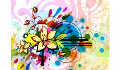 Free vector Vector floral  Free abstract floral illustration