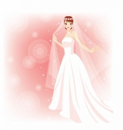 Free vector Vector misc  Free Beautiful Bride in The Wedding Vector Illustration