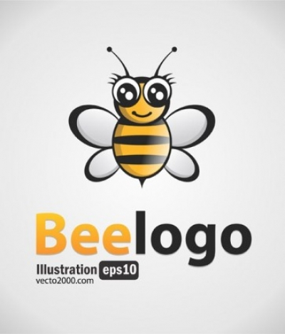 Free vector Vector misc  Free Bee Logo Black-Gold
