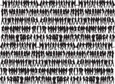 Free vector Vector people  Free Big Collection of People Silhouettes Vector Graphic