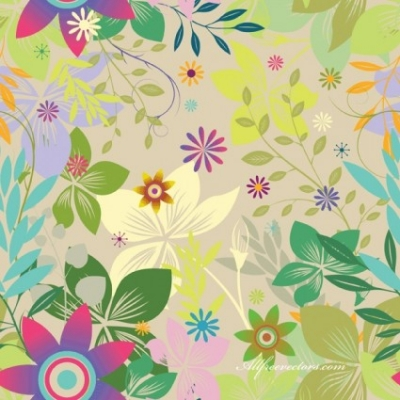 Free vector Vector flower  Free colorfull seamless background vector