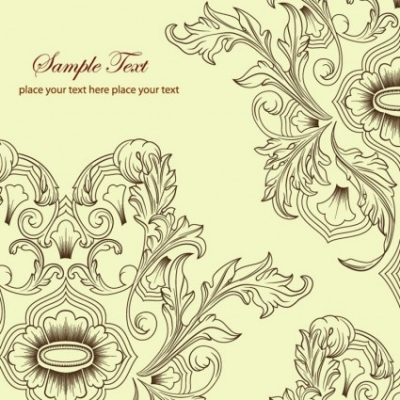 Free vector Vector background  Free Floral Background Vector Classic