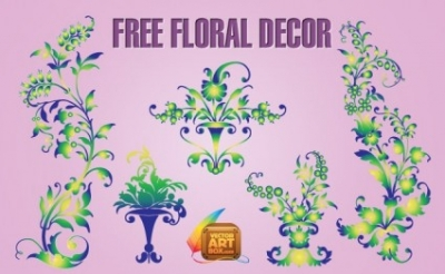 Free vector Vector floral  Free Floral Decor