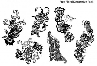Free vector Vector floral  Free Floral Decorative Pack