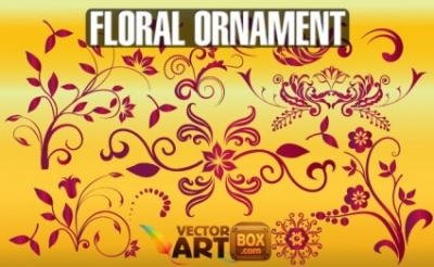 Free vector Vector floral  Free Floral Ornament