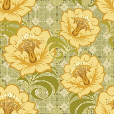 Free vector Vector background  Free Floral Seamless Vector Background