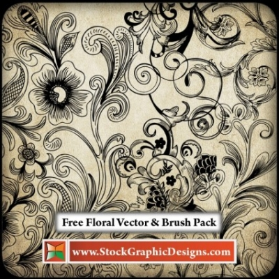 Free vector Vector floral  Free Floral Vector Pack