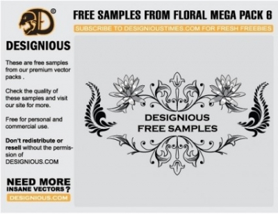 Free vector Vector floral  Free floral vector samples