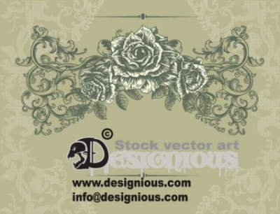 Free vector Vector flower  Free Floral Vintage Illustration