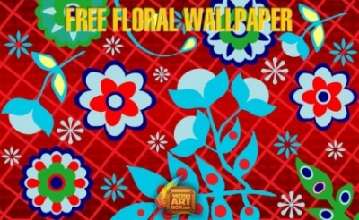 Free vector Vector floral  Free Floral Wallpaper