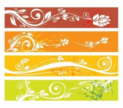 Free vector Vector web design  Free Floral Website Banners Vector Graphic
