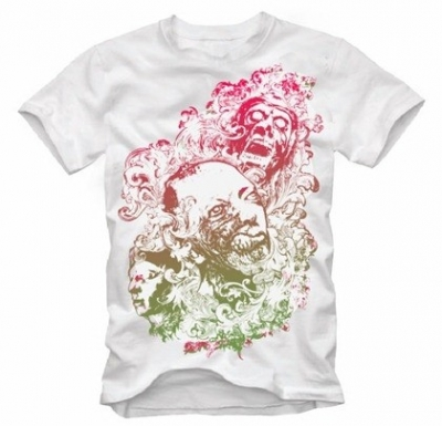 Free vector Vector floral  Free Floral Zombie Nightmare Free T-shirt Design