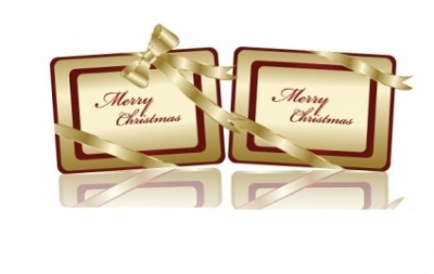 Free vector Vector Christmas  Free Golden Christmas Tags