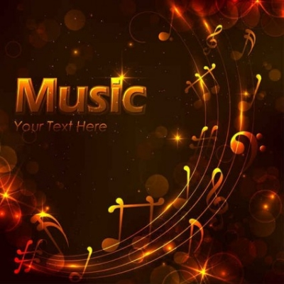 Free vector Vector background  Free Golden music design background