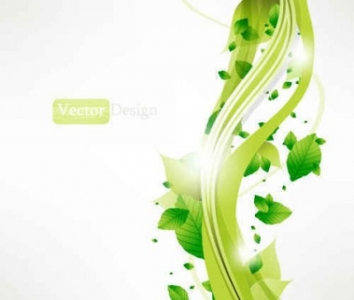 Free vector Vector background  Free Gree leaf background