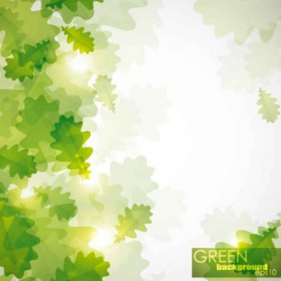 Free vector Vector background  Free Green leaf background