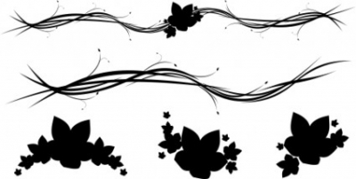 Free vector Vector floral  Free Horizontal Floral Ornaments