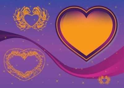 Free vector Vector Heart  Free Illustrator Hearts