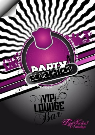 Free vector Vector background  Free Party Flyer Background