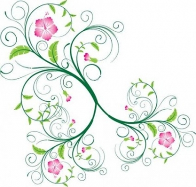 Free vector Vector floral  Free Swirl Floral Vector