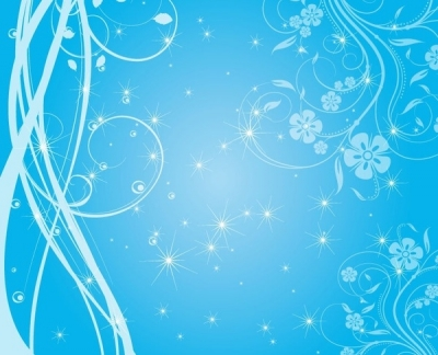 Free vector Vector background  Free Swirly Blue Stars Vector Background