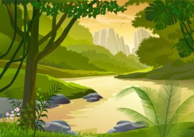 Free vector Vector background  Free vector cartoon natural