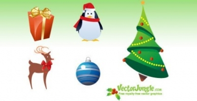 Free vector Vector icon  Free vector Christmas icons pack