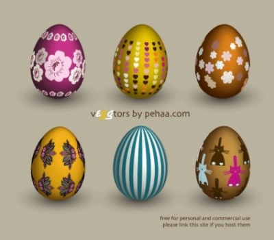 Free vector Vector misc  Free vector Easter eggs