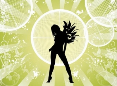 Free vector Vector abstract  Free Vector Fashion Girl with Abstract Background