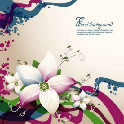 Free vector Vector background  Free Vector Flower Background
