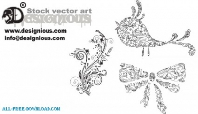 Free vector Vector floral  Free vector samples Floral 77  Birds 5  Christmas 10