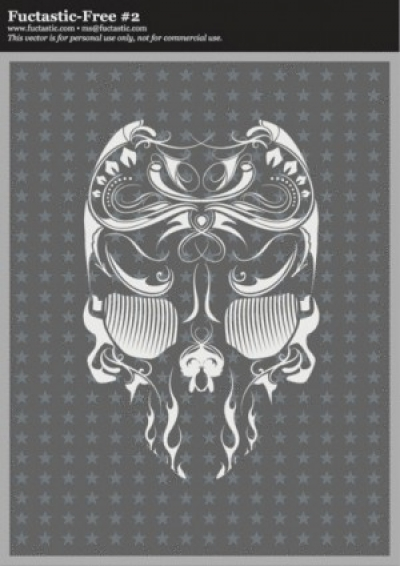 Free vector Vector misc  Free Vector Skull Flourish Mexican Touch