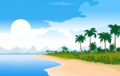 Free vector Vector misc  Free Vector Summer Beach Image