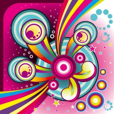Free vector Vector background  Free Wonderful Colorful Background Vector Graphic Set