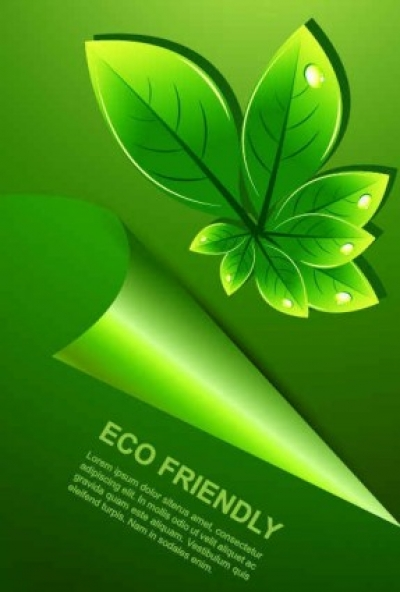 Free vector Vector background  fresh and green leaves background